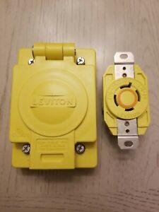 Leviton 67W74 20 Amp, L14-20 125/250V Flush Mount Locking Receptacle w/Wetguard