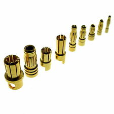 Gold Bullet Connector- All Sizes 2/3/3.5/4/5/5.5/6/6.5/7/8 mm- RC Connectors UK