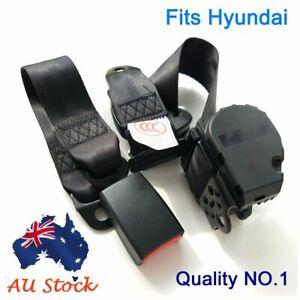 For Hyundai Black 3-Points Car Universal Safety Seat Belt Seatbelt Top Retractor