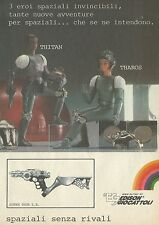 X2249 THITAN THAROS eroi spaziali - Edison giocattoli - Pubblicità 1980 - Advert