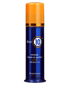 Its A 10 Miracle Leave-In Potion Plus Keratin 3.4 oz / 100ml Smoothes adds shine