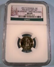 2017 NGC MS69 CANADA DIME BLUENOSE 10c MS 69