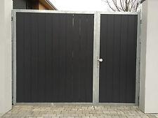Einfahrtstor Hoftor Gartentor 4.20m x 2.00m für eine bauseitige Holzfüllung Tor