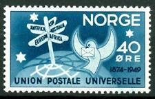 NORWAY - NORVEGIA - 1949 - 75° anniversario dell'U.P.U. -