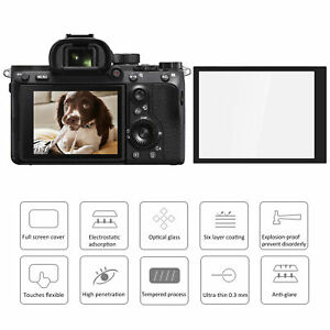Optical Glass LCD Screen Protecor Film Dustproof for Sony A7RIII/A7III Camera