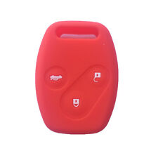 Red Remote Key Cover Head Protective Case Fob Silicone Rubber Jacket 3 BTN