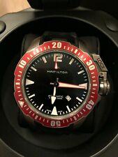Hamilton Khaki Navy Frogman 46mm Black Rubber Band Auto Men's Watch H77805335