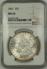 1891 Morgan Silver Dollar $1 Coin NGC MS-63 (15)