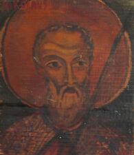 1969 Orthodox Tempera On Wood Hand Painted Icon Saint Nicholas
