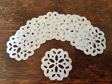 12 fancy paper doilies 1:12th dolls house mat coffee bakery cakes handmade