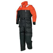Mustang Survival Deluxe Anti-Exposure Coverall & Worksuit - Size XL Black/Orange