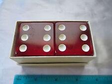 Vintage Pair Red Bakelite Big Dice