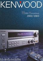 Prospekt Katalog Kenwood Home Entertainment 2002/2003 catalog HiFi TV CD DVD ...