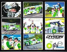 2009 Dyson Racing Mazda Lola LMP2 signed ALMS postcard 5 drivers
