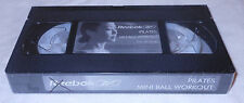 Reebok Pilates Mini Ball Workout VHS 2003 Exercise Instructional Video Tape