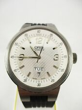 Oris 7560 F1 Wiliams Day Date Team Motor Sport Armbanduhr Uhr Swiss Herrenuhr