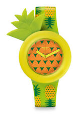 Swatch EXOTIC Button Watch GG218 Analogue Plastic Yellow, Green