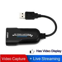 HDMI Video Capture Karte USB 3.0 Grabber Record Box Für PC Live Stream