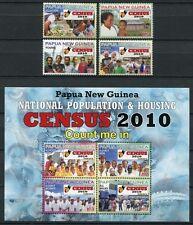 Papua Neuguinea 2010 Volkszählung Census 1536-39 Block 108 Postfrisch MNH