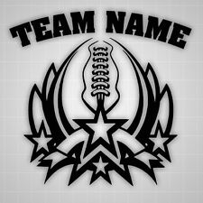 Football Personalized Team Name Room,Truck,Car Garage Decal School Sports Team