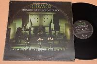 ULTRAVOX LP MONUMENT..NEW WAVE 1°ST ORIGINALE ITALIA OTTIMO EX-