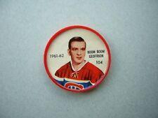 1961/62 SALADA FOODS / SHIRRIFF PLASTIC NHL HOCKEY COIN #104 BERNIE GEOFFRION