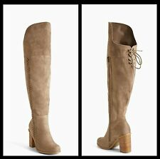NIB Torrid Size 12W Tan Braided Side Heel Over The Knee Boots (Wide Calf) #51