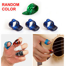 3 Finger Picks + 1 Thumb Pick Plectrums Guitar Plastic Set New for Beginner Gift