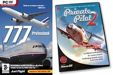 private pilot 2 & 777 Professional Add-On for flight simulator  2004  NEW&SEALED