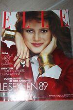 ELLE N° 2246 KIRK DOUGLAS CHOPINOT JEAN-PAUL GAULTIER ALINA FILLE DE CASTRO 1989
