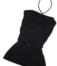 JUICY Couture Black tie neck swimsuit top Cover Dress Medium