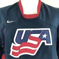 Nike Mens Hockey Jersey Pullover USA IIHF International Ice Hockey Federation S