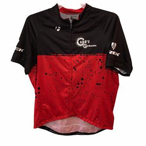Bontrager Mens Sz 2XL Black Red Fitted Short Sleeve 1/4 Zip Cycling Jersey Shirt