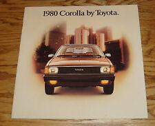 Original 1980 Toyota Corolla Deluxe Sales Brochure 80
