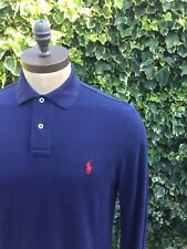 Ralph Lauren Custom Fit L/S Polo, la Marina, Medio Rrp £ 105.00