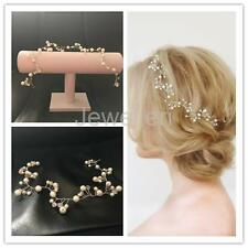Pearl Hair Vine Hair Wreath Bridal Headpiece Silver Bridal Tiara Crown