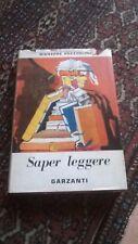 GIUSEPPE PREZZOLINI - SAPER LEGGERE - GARZANTI - 1957