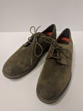 Rockport Men's SZ 9.5 Tailoring Guide Plain Oxford Trutech Suede Upper Olive New