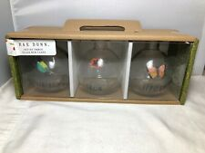 Rae Dunn  Set Of Three bud Glass Vases