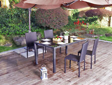Dining Set Outdoor/Indoor Patio Furniture Sets Rattan Stack Chair Wicker