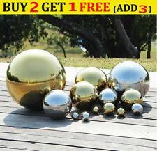 1x Stainless Steel Hollow Ball Mirror Gazing Ball Home Garden Ornaments Decor