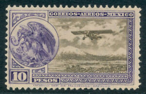 by24 Mexico Airmail C19 10$ Violet & Olive Brown Mint Never Hinged Est $5-15