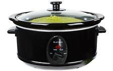 Premium Black Slow Cooker 6.5L Pot + Removable Ceramic Inner Bowl Steam Grill