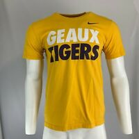 "Nike Men's Yellow/Multi LSU ""Geaux Tigers"" Graphic Tee T-Shirt Size M Medium"