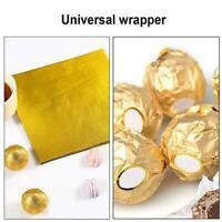 100X Kupfer /Gold Folie Papier Lebensmittel Kuchen Essbare Vergoldung DIY D U7C1