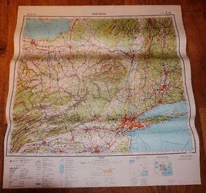 Authentic Soviet Army Military SECRET Topographic Map New York City USA #B8