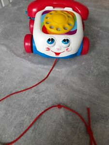 FISHER PRICE RETRO PHONE / TELEPHONE PULL ALONG TOY 2000 / 77816/M2118