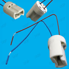 10x G9 Base Ceramic Lamp Holder Cable Socket Halogen LED Bulb Down Light Fitting