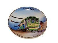 VINTAGE Miniature Souvenir Plate Hyde Street Cable Car San Francisco California