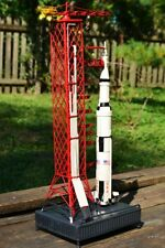 Handmade Tin Saturn V Rocket & Launch Pad Tinplate Model - NASA - Apollo - Moon